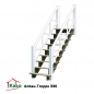 Mobile Preview: Anbau-Treppe-S90 aus Holz an Stelzenhaus